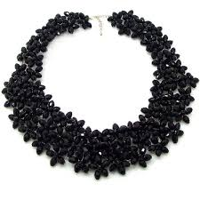 long crystal statement necklace images Handmade lavish mini florals black crystal statement necklace jpg