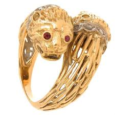 lion heads for sale lalaounis yellow gold and gem set large lion ring for