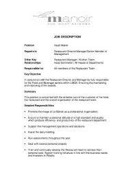 Waiter Job Description Resume by Captain Job Description Resume