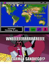 San Diego Meme - 714238 carmen sandiego lord tirek meme safe tirek where is