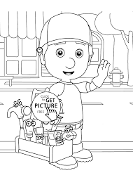 handy manny coloring pages archives coloring 4kids com