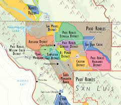 paso robles winery map wine map of california