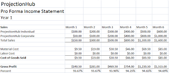 Income Statement Excel Template 28 Forecasted Income Statement Template Projected Income