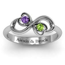 mothers infinity ring duo of hearts and stones infinity ring ring and rings