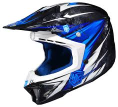 blue motocross gear hjc cl x7 pop n u0027 lock helmet revzilla
