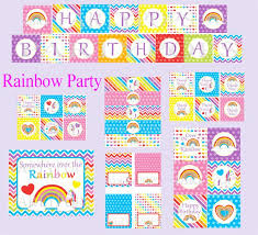 Rainbow Party Decorations 79 Best Rainbow Unicorn Party Images On Pinterest Rainbow
