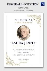 Funeral Service Announcement Wording Funeral Invitation Template Elegant Photo Template Memorial