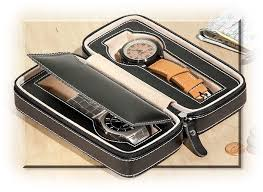 travel watch images Two watch travel case russell 39 s for men jpg