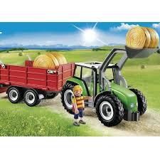 tracteur en bois tracteur avec pelle et remorque playmobil country 6130 u2013 la