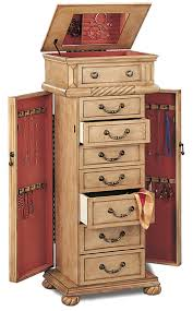 Armoire Chest Of Drawers Jewelry Armoires Jewelry Armoire In A Light Green Tint Finish