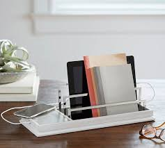 Usb Desk Accessories Wireless Charging Station With Usb Port Pottery Barn