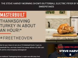 harvey show masterbuilt thanksgiving turkey sweepstakes