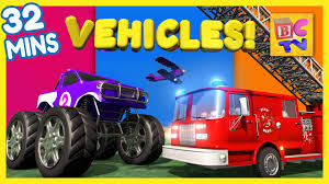monster trucks videos for kids fire truck dump truck monster truck u0026 more vehicles for kids