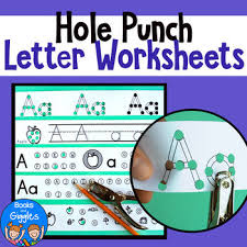 hole punch alphabet letter worksheets by books and giggles tpt