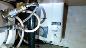 review excel propane instant water heater in an rv or