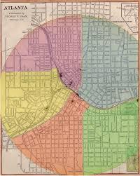 Atl Map Street Layout In Atlanta