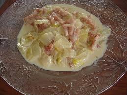 cuisiner des endives recette de fondue d endives à la crème et lardons fumés la