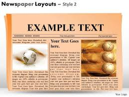 newspaper theme for ppt newspaper headline layout powerpoint slides and editable ppt