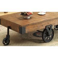 whimsical distressed country wagon coffee table aptdeco