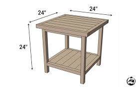 coffee table building plans simple square side table free diy plans rogue engineer