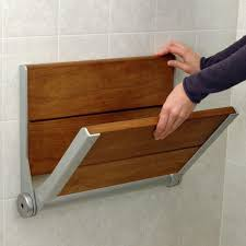 fold up table hinges serena fold up wood shower seat ada compliant bathroom