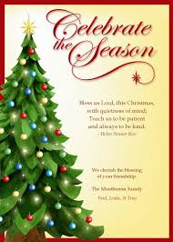 christian christmas card templates free template business