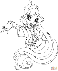 homely idea winx club coloring pages free printable for kids of