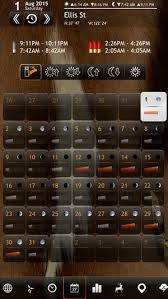 free solunar tables hunting solunar calendar best hunting times and feeding on the app store