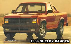 dodge shelby dakota 1989 shelby dakota truck information