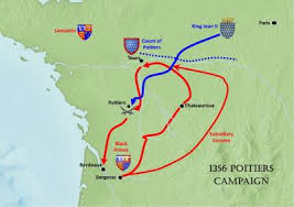 map of poitiers warfare featured articles the 1356 poitiers caign