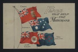 Flag Cape Postcard U0027flags That Help The Motherland U0027 Flags Of The Empire