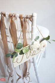 Bride And Groom Chair Signs Amazing Diy Ribbon Bride And Groom Chairs U0027 Signs Weddingomania
