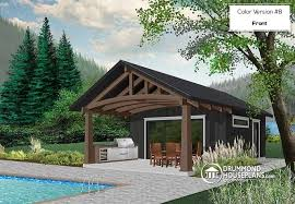 cabana pool house house plan w1911 detail from drummondhouseplans com