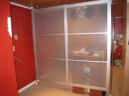 silver room partition design come with frosted glass screen and