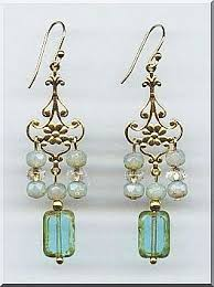 turquoise beaded chandelier opaline picasso with turquoise glass beaded chandelier earrings