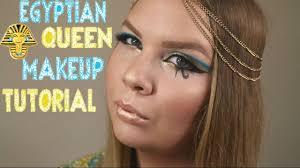 Cleopatra Makeup Tutorial Halloween Costume Ideas Youtube Easy Egyptian Halloween Makeup Tutorial Jennryall Youtube