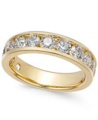 gold wedding rings diamond channel band 2 ct t w in 14k gold or white gold