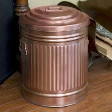 copper ash bin with lid home accents