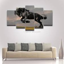 2017 modern canvas wall art horse painting modular picture hd