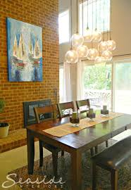 Cb2 Pendant Light by Seaside Interiors Dining Room Design Makeover Using The Cb2