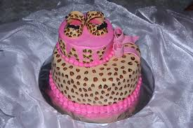 cheetah baby shower cheetah print baby shower cake cakecentral