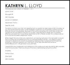 resignation letter involuntary resignation letter sample