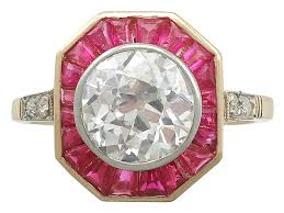 ruby rings sale images Art deco ruby and diamond ring antique rings for sale ac silver jpg