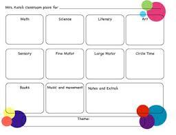 circles preschool lesson plan prek planning template pinterest