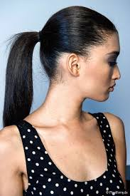 cropped hairstyles with wisps in the nape of the neck for women how to get your ponytail placement right