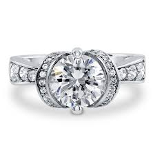 helzberg diamond jewelry stores sterling silver round cubic zirconia cz solitaire engagement ring