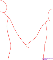 graphic designing how to draw people holding hands