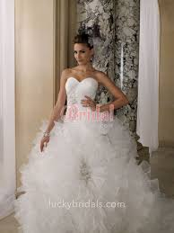 ruffled organza luxury strapless sweetheart winter ball gown