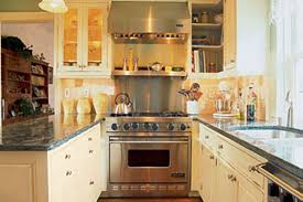 Kitchen Magnificent Shining Kitchen Design Ideas For Small Galley Galley Kitchen Design With Dining Table Set And Brick Wall