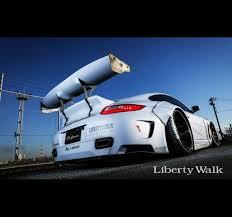 widebody porsche 997 liberty walk lb performance porsche 997 rear wing ver 1 big wing